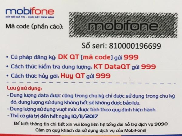Cách lấy lại số Seri bằng mã thẻ cào Mobifone