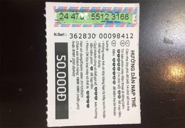 Thẻ cào bị mất số bạn hoàn toàn có thể nạp thẻ bằng số seri