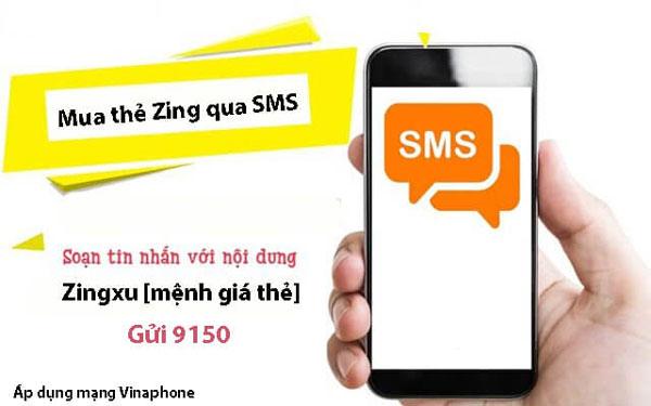 Cách nạp Zing xu qua SMS Vinaphone