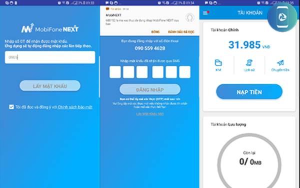 Nạp tiền điện thoại trực tuyến trên Mobifone NEXT