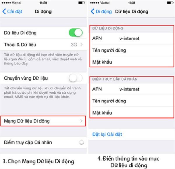 Cài 3G Mobifone bằng tin nhắn