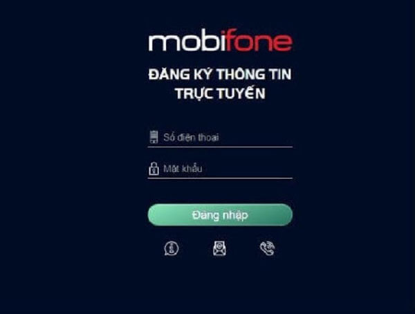 Đăng ký tại trang chủ Mobifone