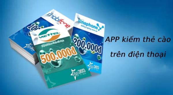 Kiếm thẻ cào online trên điện thoại bằng app như thế nào?