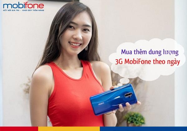 Có hai cách để mua thêm dung lượng 3G Mobifone
