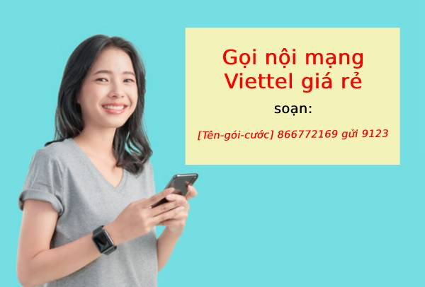 Cú pháp đăng ký gói cước gọi nội mạng miễn phí sim Viettel