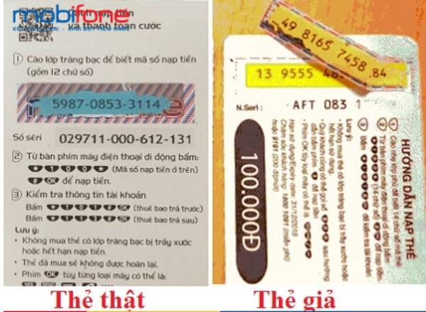 Biết thẻ cào Mobi có bao nhiêu số giúp bạn tránh mua phải thẻ giả
